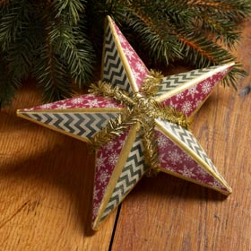 Paper Quilted Christmas Star Craft