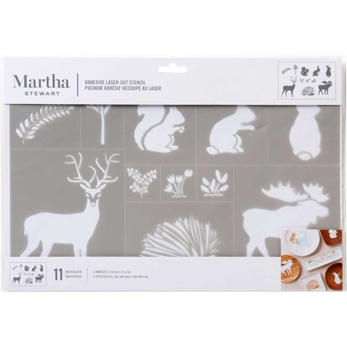 Martha Stewart ® Adhesive Stencil - Woodland Animals - 17643