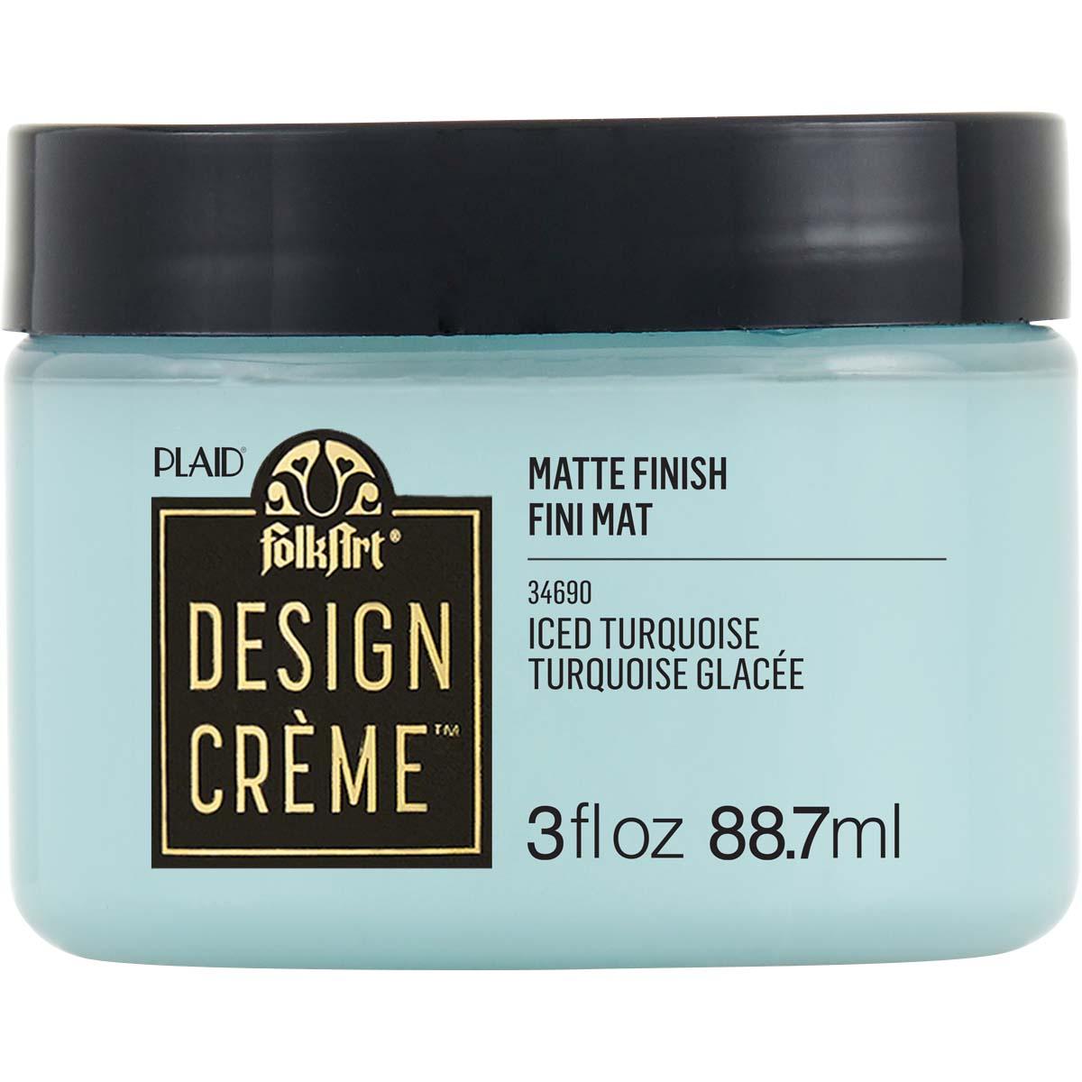 FolkArt ® Design Creme™ - Iced Turquoise, 3 oz. - 34690