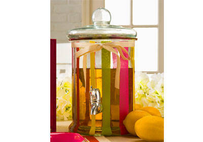 Party-Time Beverage Dispenser with Painted Stripes