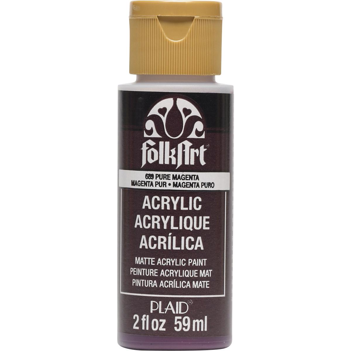 FolkArt ® Acrylic Colors - Pure Magenta, 2 oz. - 689