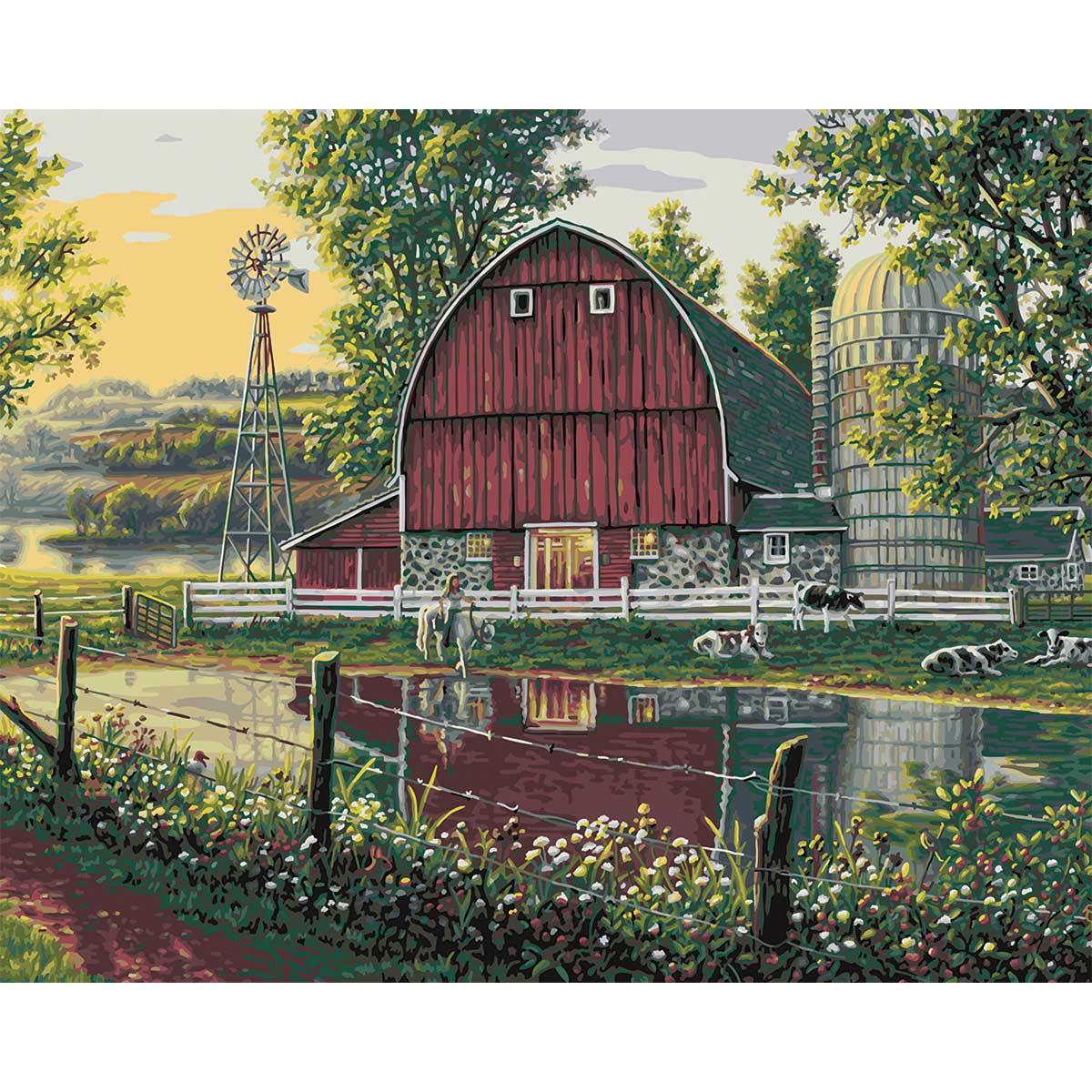Plaid ® Paint by Number - Barnyard Memories