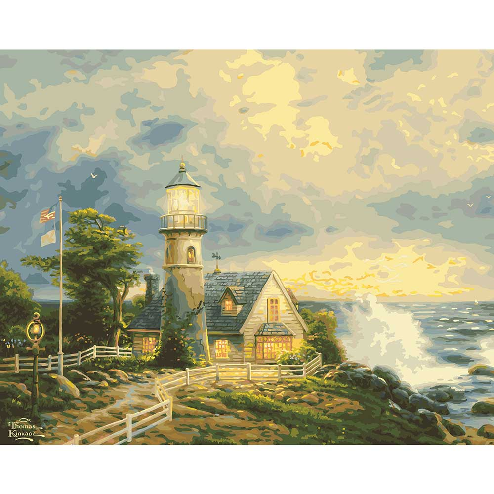 Plaid ® Paint by Number - Thomas Kinkade™ - A Light in the Storm