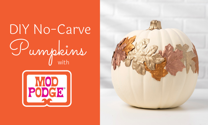 DIY No-Carve Pumpkins with Mod Podge