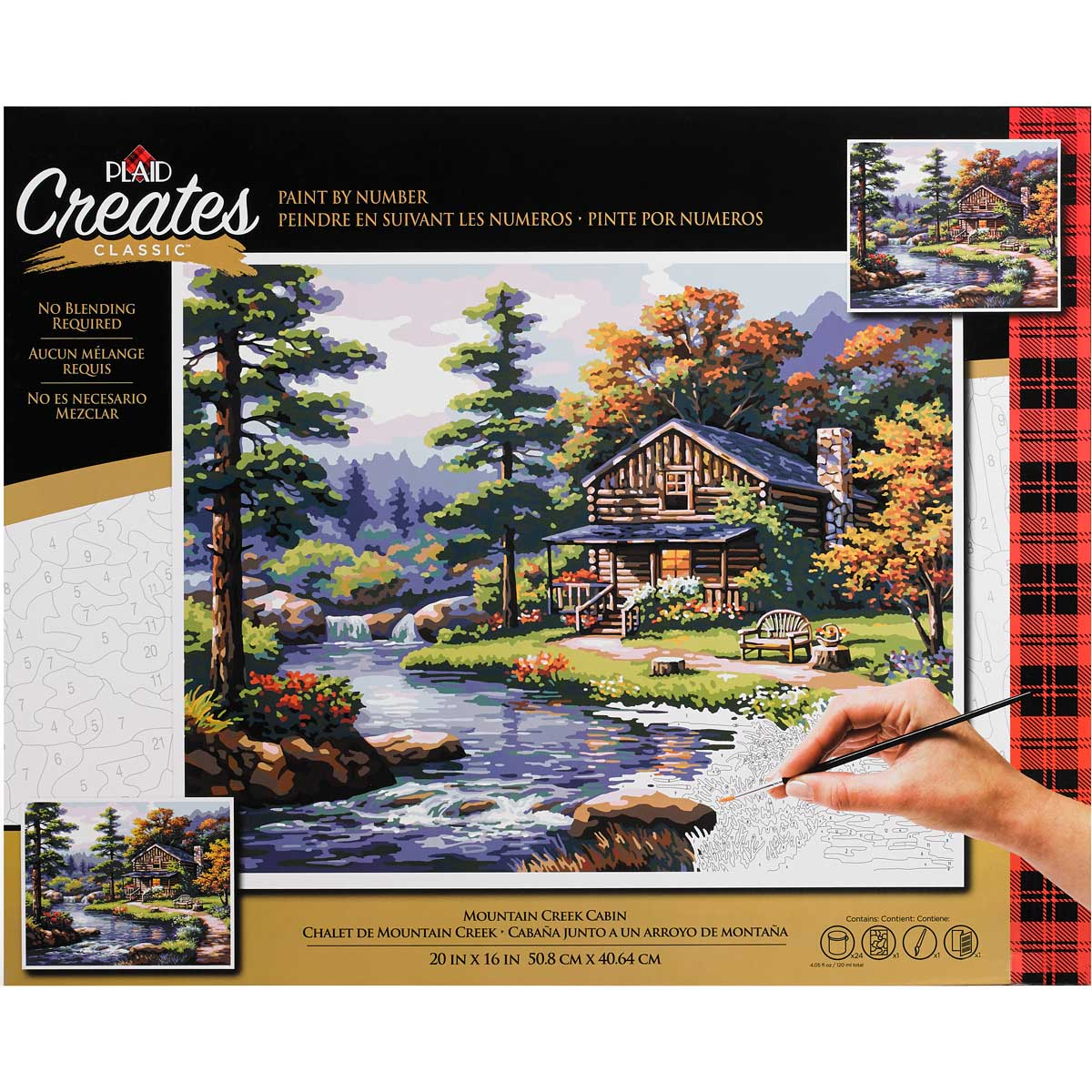 Plaid ® Paint by Number - Mountain Creek Cabin