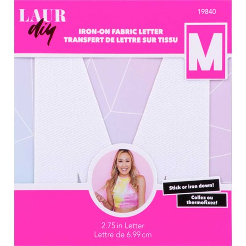 LaurDIY ® Iron-on Fabric Letters - M
