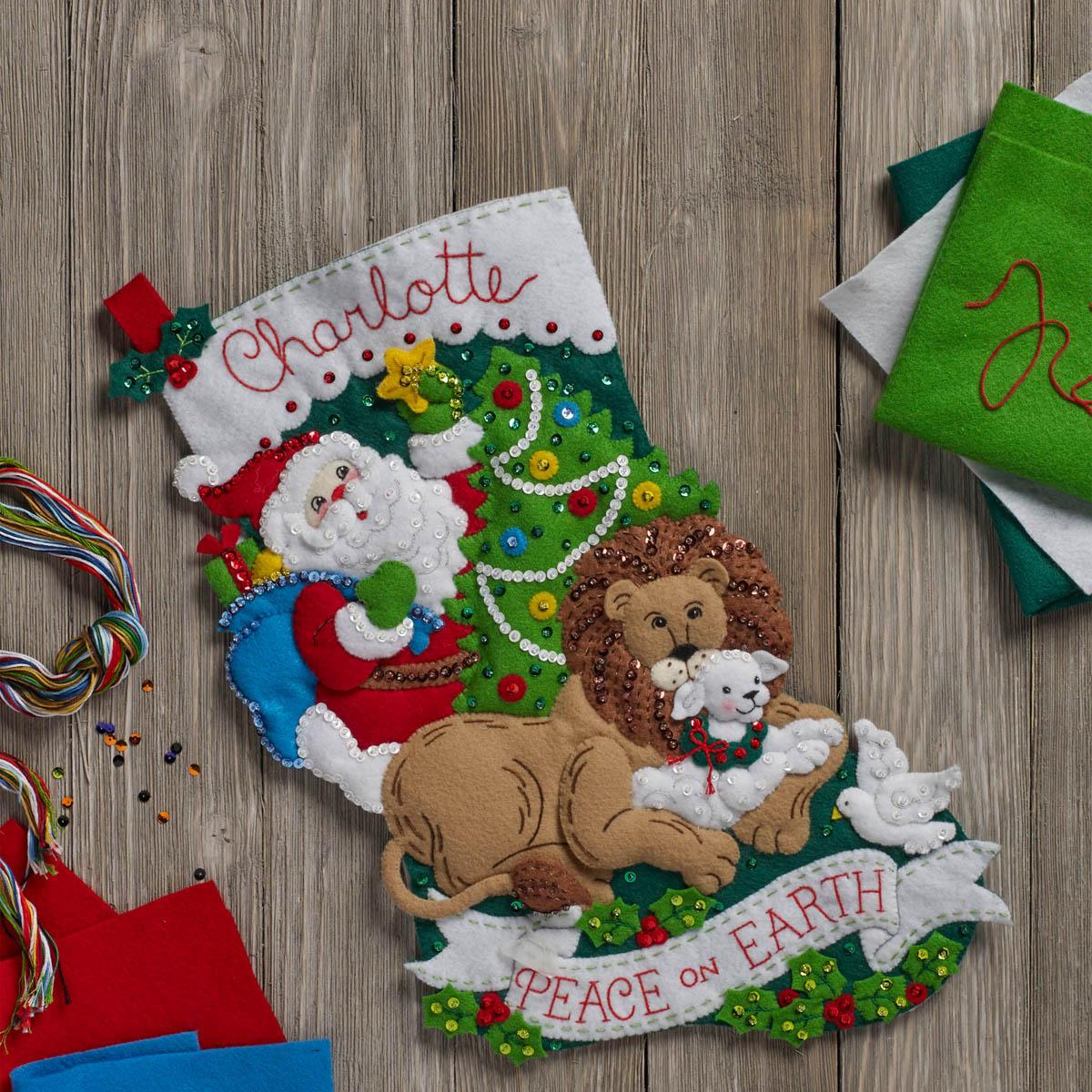 Bucilla ® Seasonal - Felt - Stocking Kits - Peace On Earth - 86665