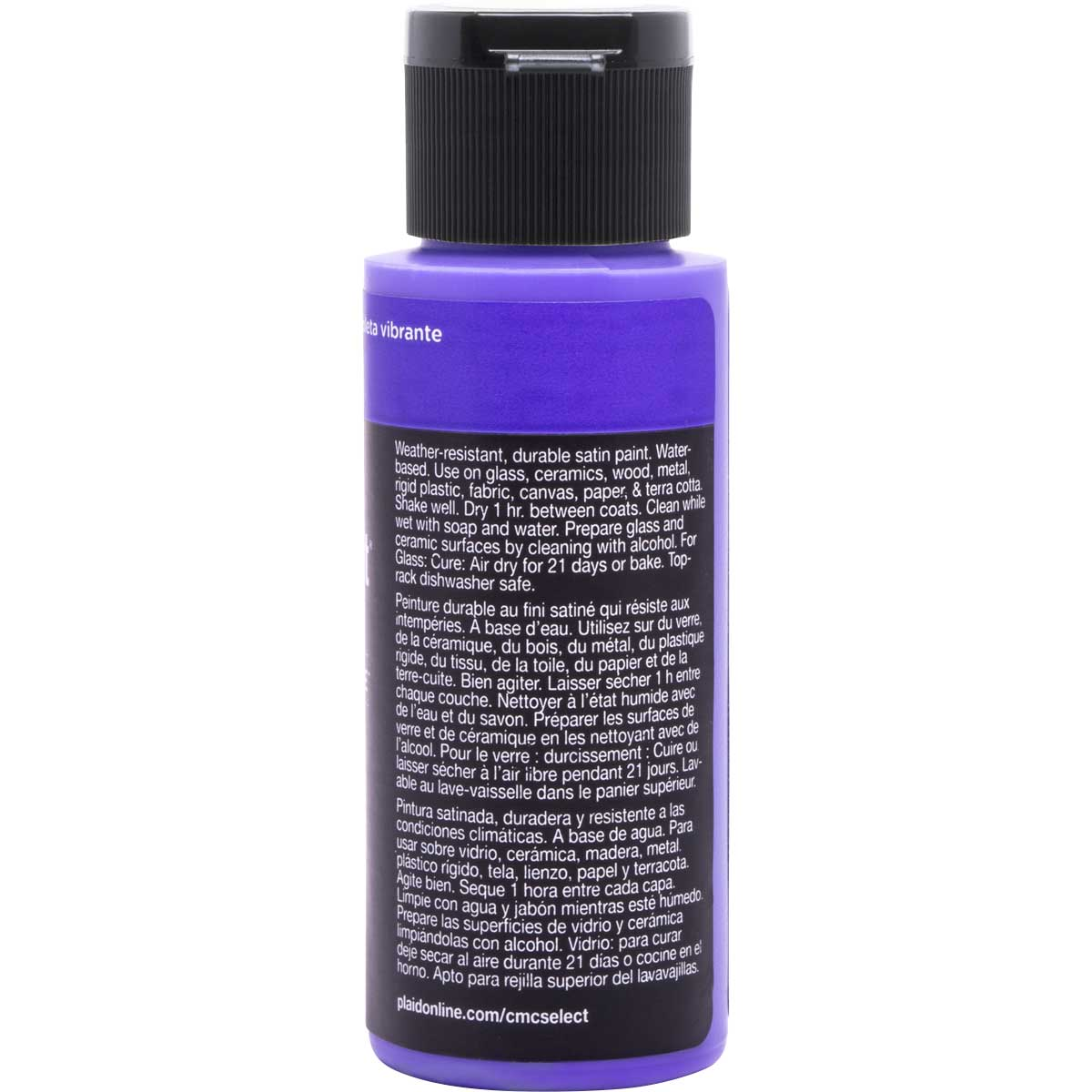 Delta Ceramcoat ® Select Multi-Surface Acrylic Paint - Satin - Vibrant Violet, 2 oz.