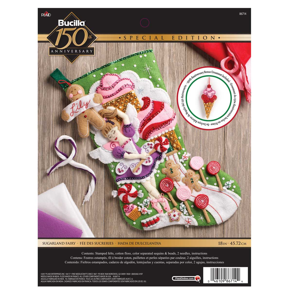 Bucilla ® Seasonal - Felt - Stocking Kits - Sugarland Fairy