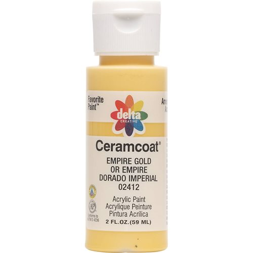 Delta Ceramcoat ® Acrylic Paint - Empire Gold, 2 oz. - 024120202W