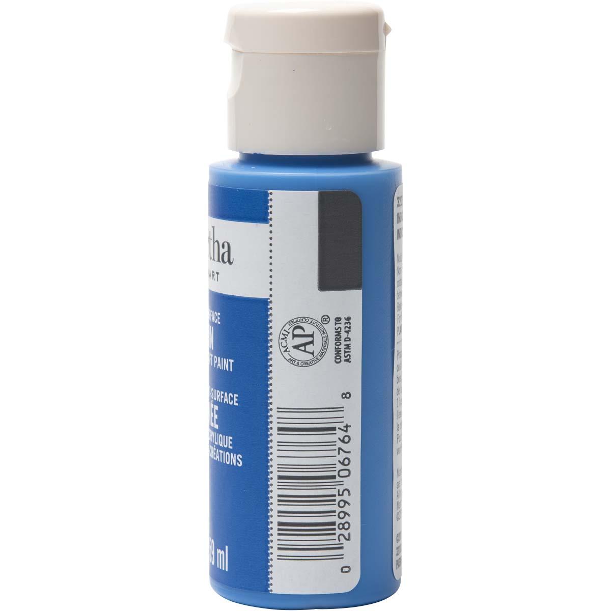 Martha Stewart ® Multi-Surface Satin Acrylic Craft Paint - Indigo, 2 oz. - 32018CA