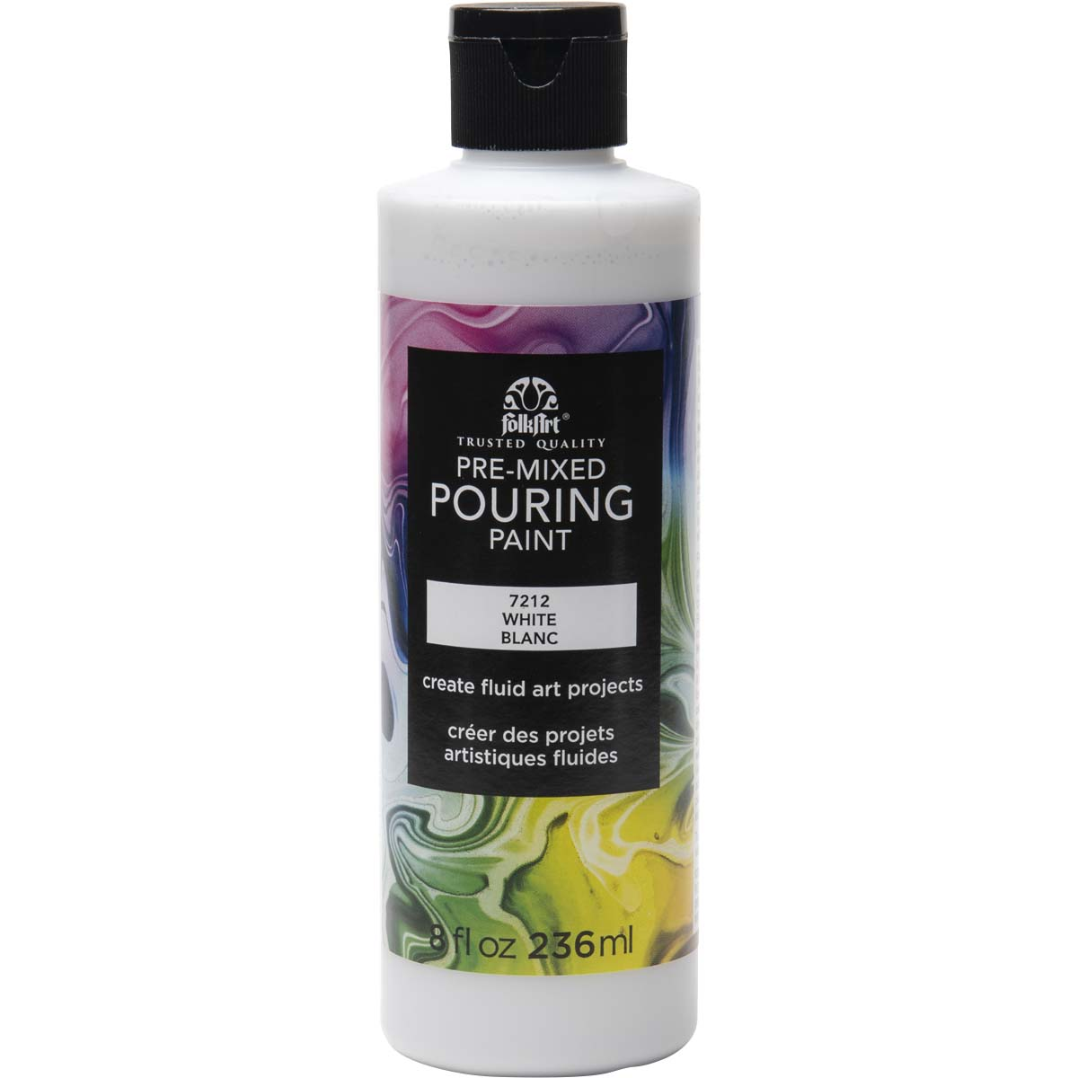 FolkArt ® Pre-mixed Pouring Paint - White, 8 oz. - 7212