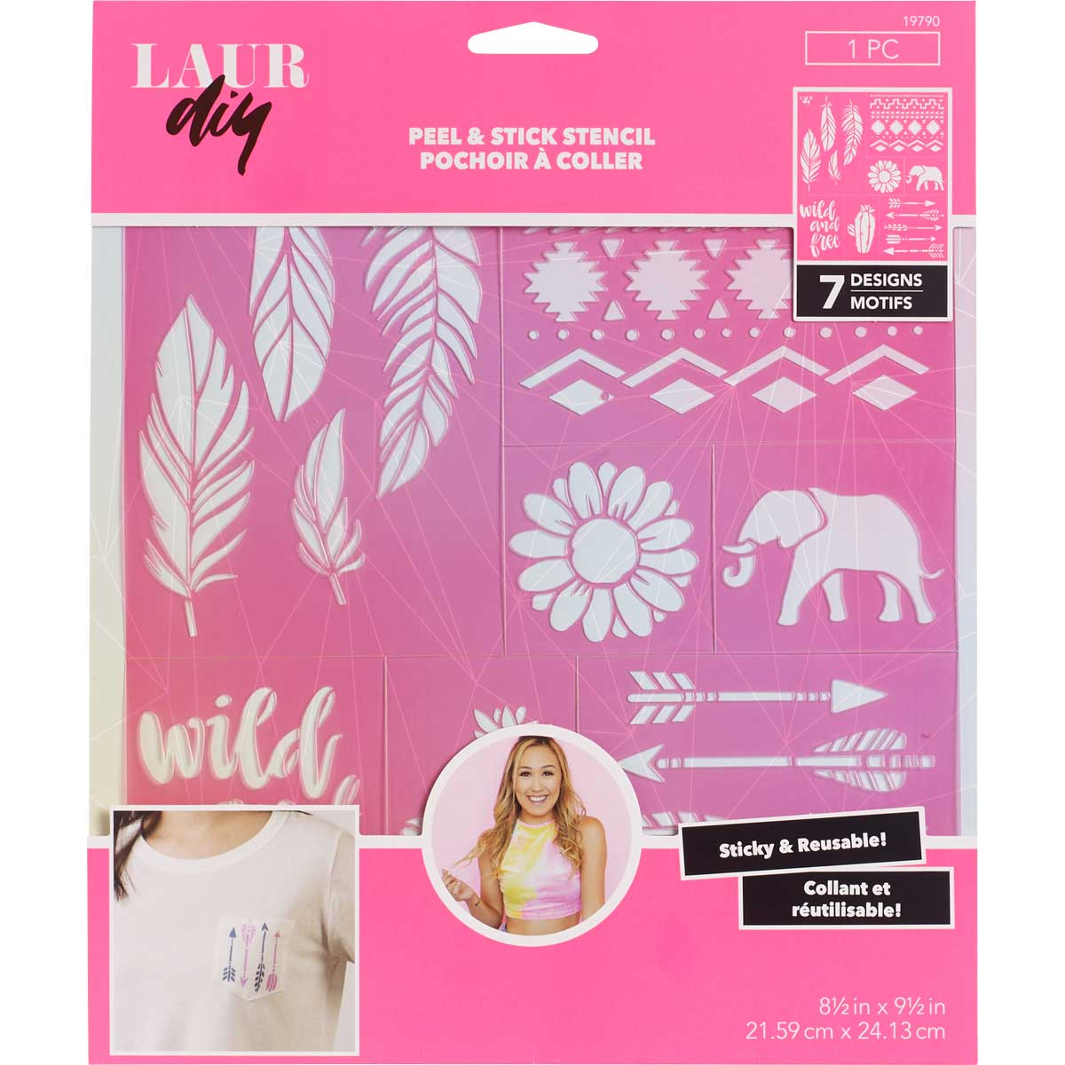 LaurDIY ® Peel & Stick Stencils - Large - Gypsy Spirit