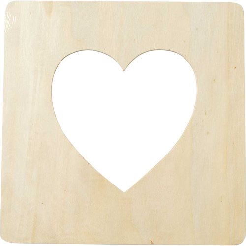 Plaid ® Wood Surfaces - Heart Frame - 97542