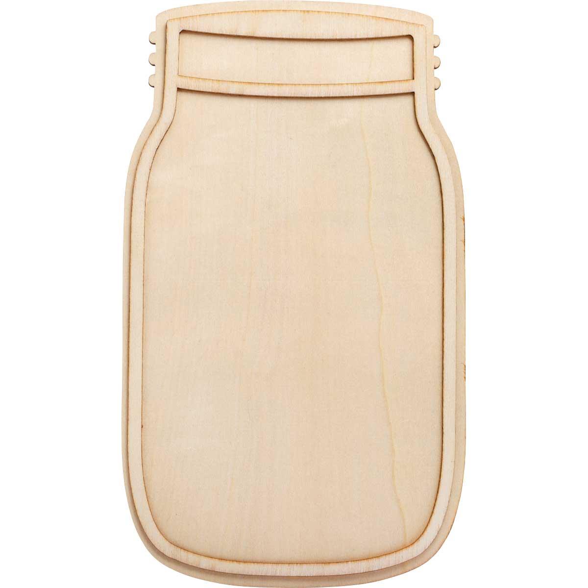 Plaid ® Wood Surfaces - Unpainted Layered Shapes - Mason Jar 10
