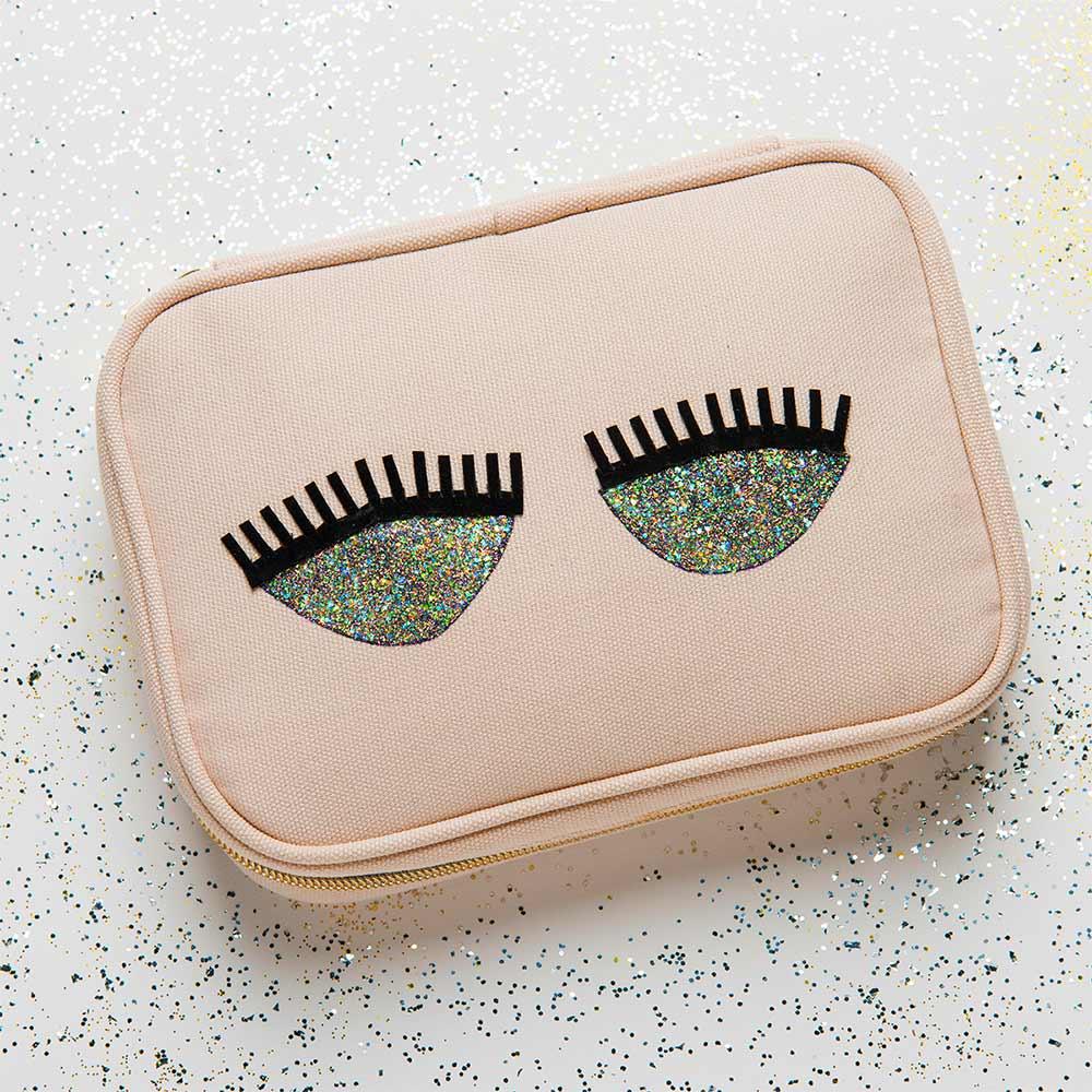 Glitter Cosmetic Bag DIY