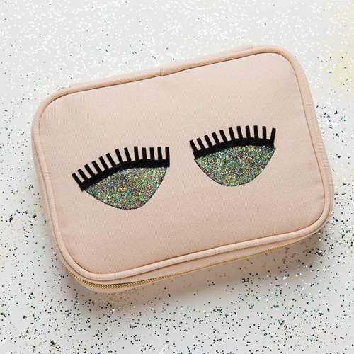 Glitter Cosmetic Bag DIY