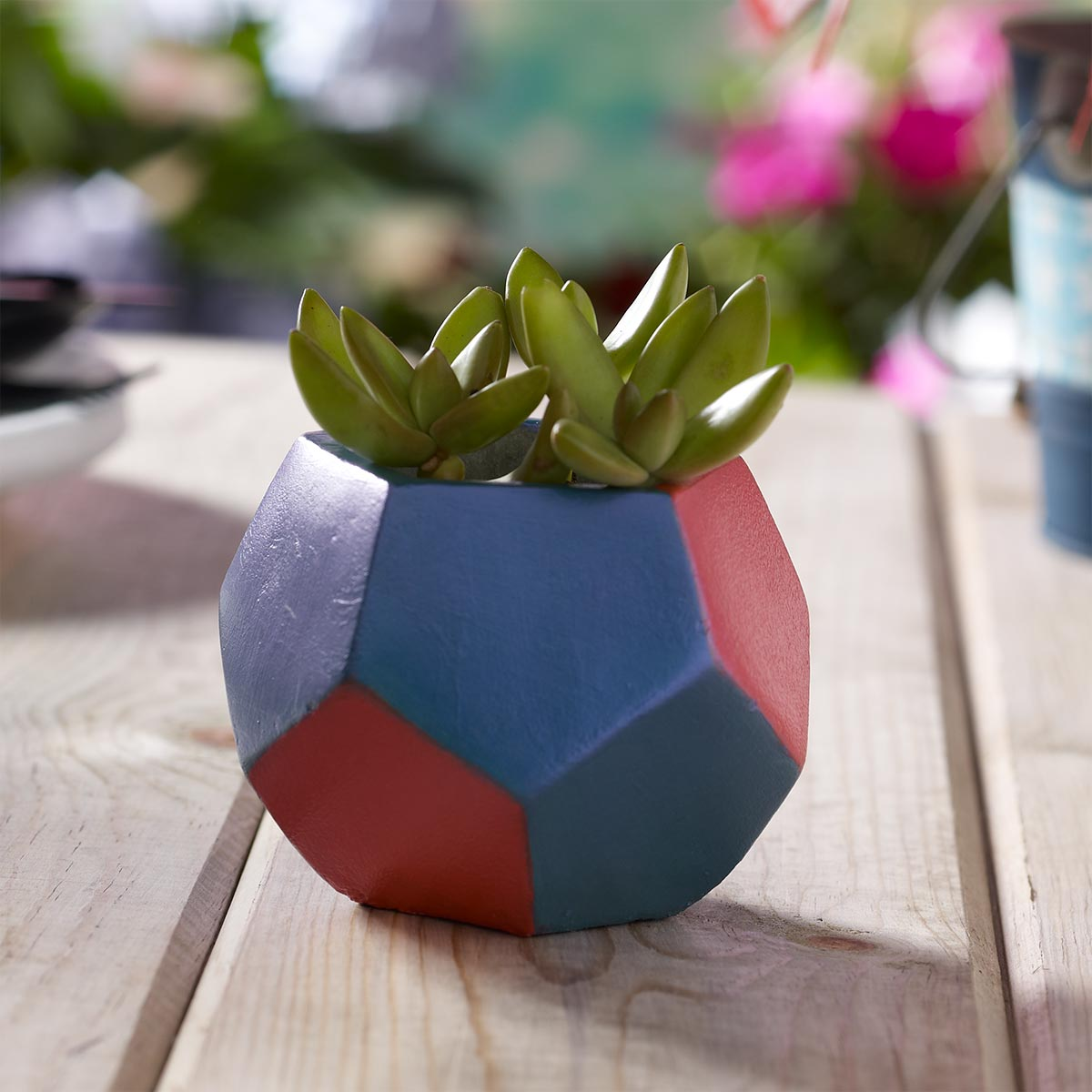 Patriotic Geometric Planter