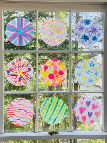Coffee Filter Sun Catchers