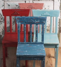 Set of Chalk Painted Chairs
