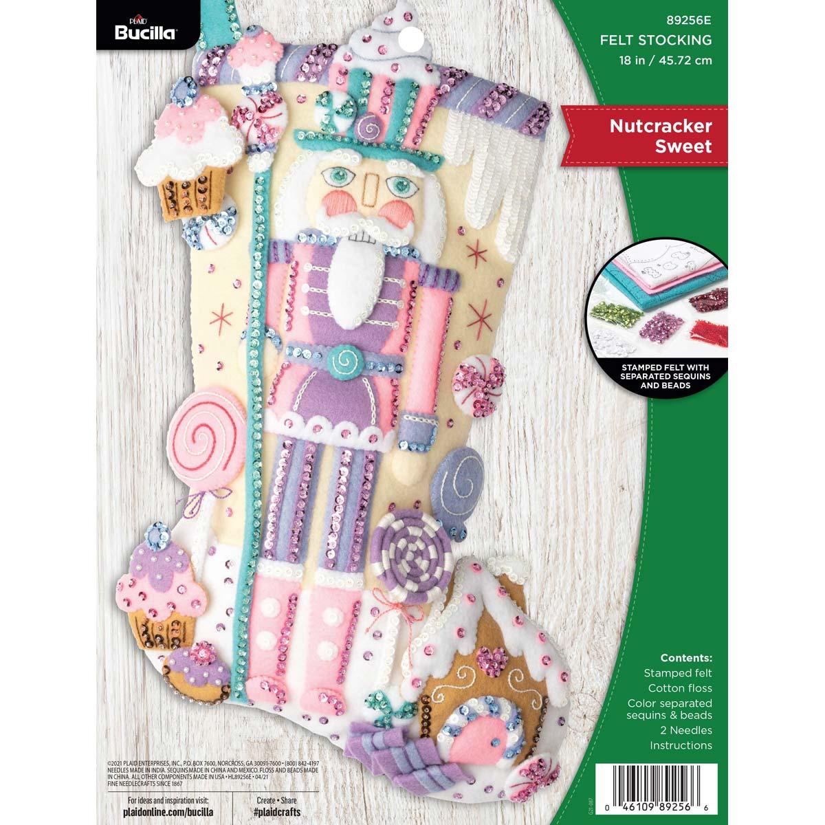 Bucilla ® Seasonal - Felt - Stocking Kits - Nutcracker Sweet - 89256E
