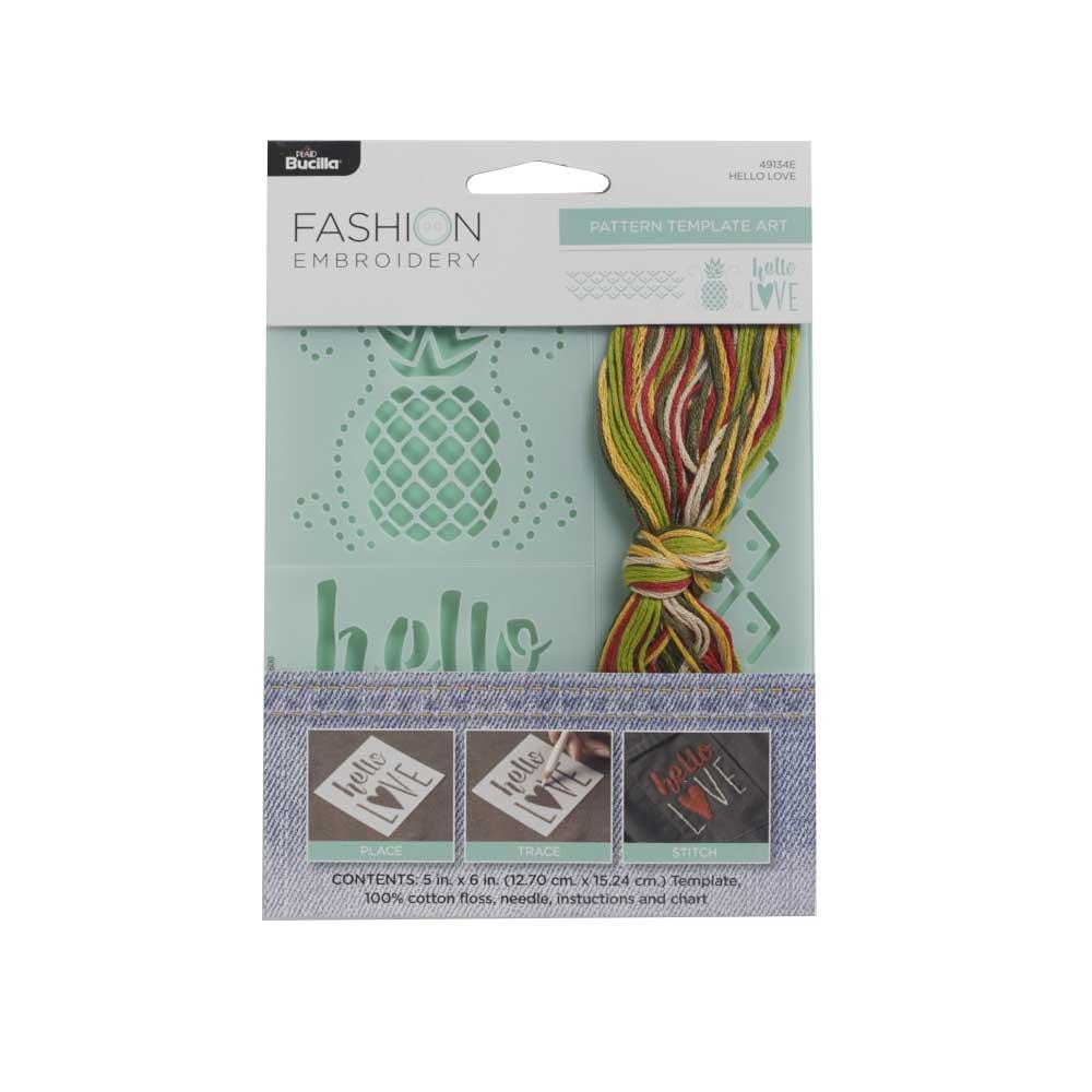 Bucilla ® Fashion Embroidery Kit - Hello Love