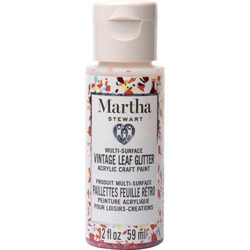 Martha Stewart ® Multi-Surface Vintage Leaf Glitter Acrylic Craft Paint CPSIA - Orange Sorbet, 2 oz.