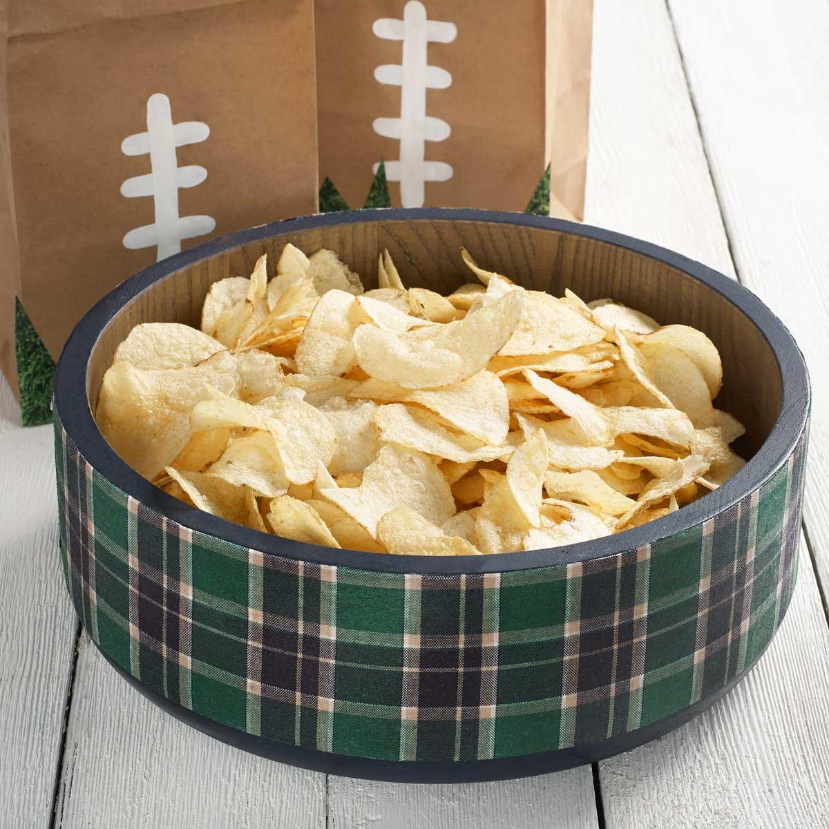 DIY Tailgate Idea - Plaid Chip Bowl