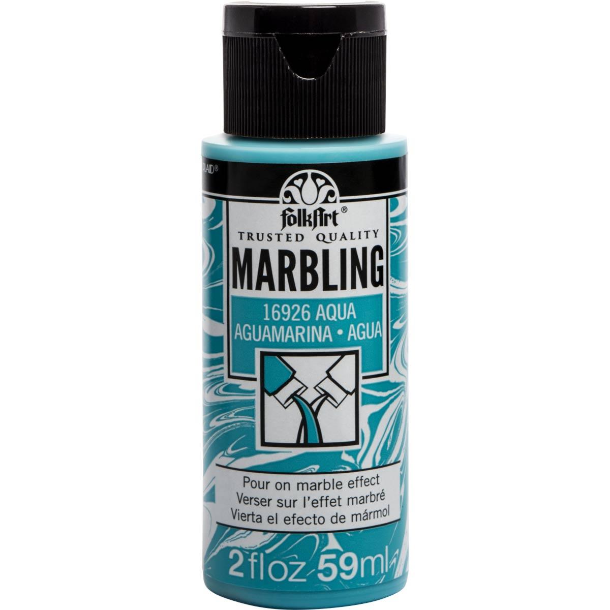 FolkArt ® Marbling Paint - Aqua, 2 oz. - 16926