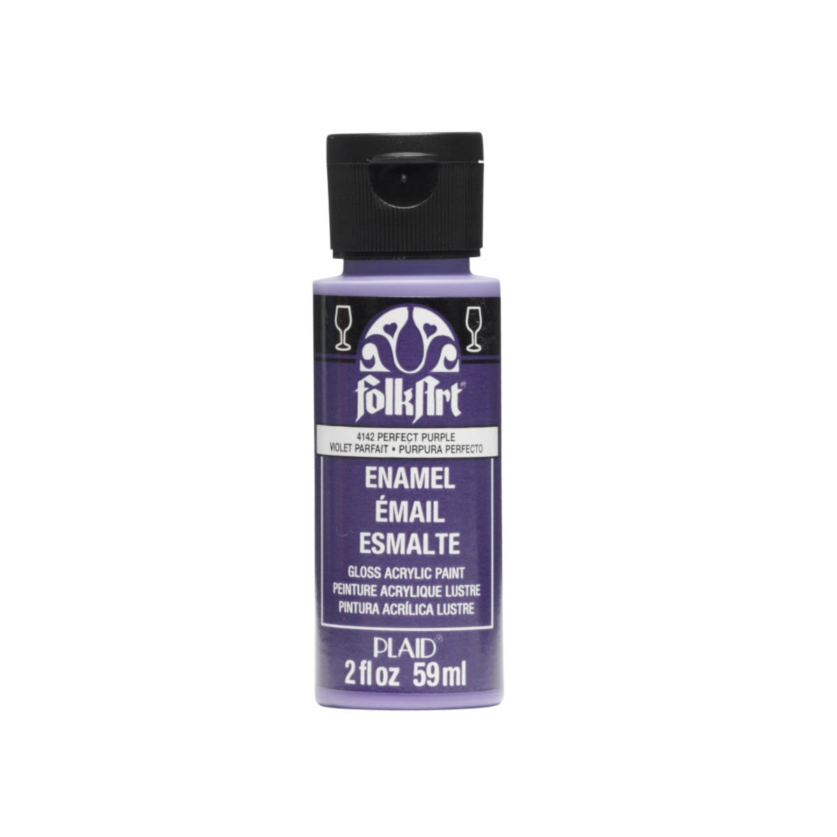 FolkArt ® Enamels™ - Perfect Purple, 2 oz. - 4142