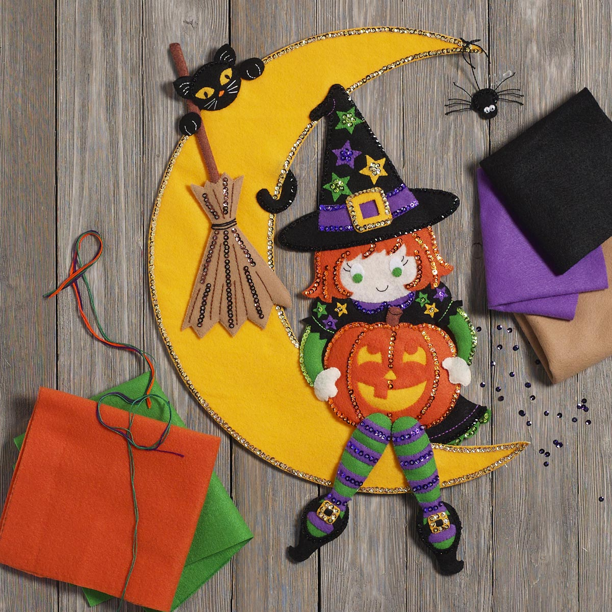 Bucilla ® Seasonal - Felt - Home Decor - Witching Moon Wall Hanging