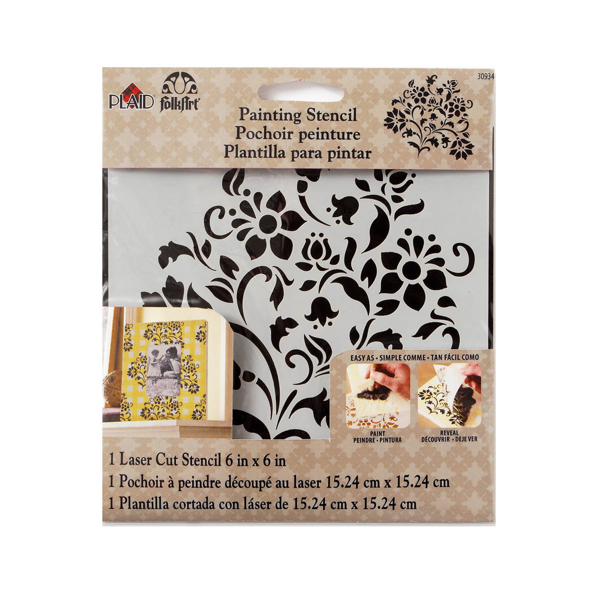 FolkArt ® Painting Stencils - Small - Lovely Floral - 30934
