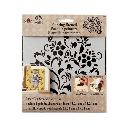 FolkArt ® Painting Stencils - Small - Lovely Floral