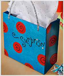 Glittery Surprise Gift Bag