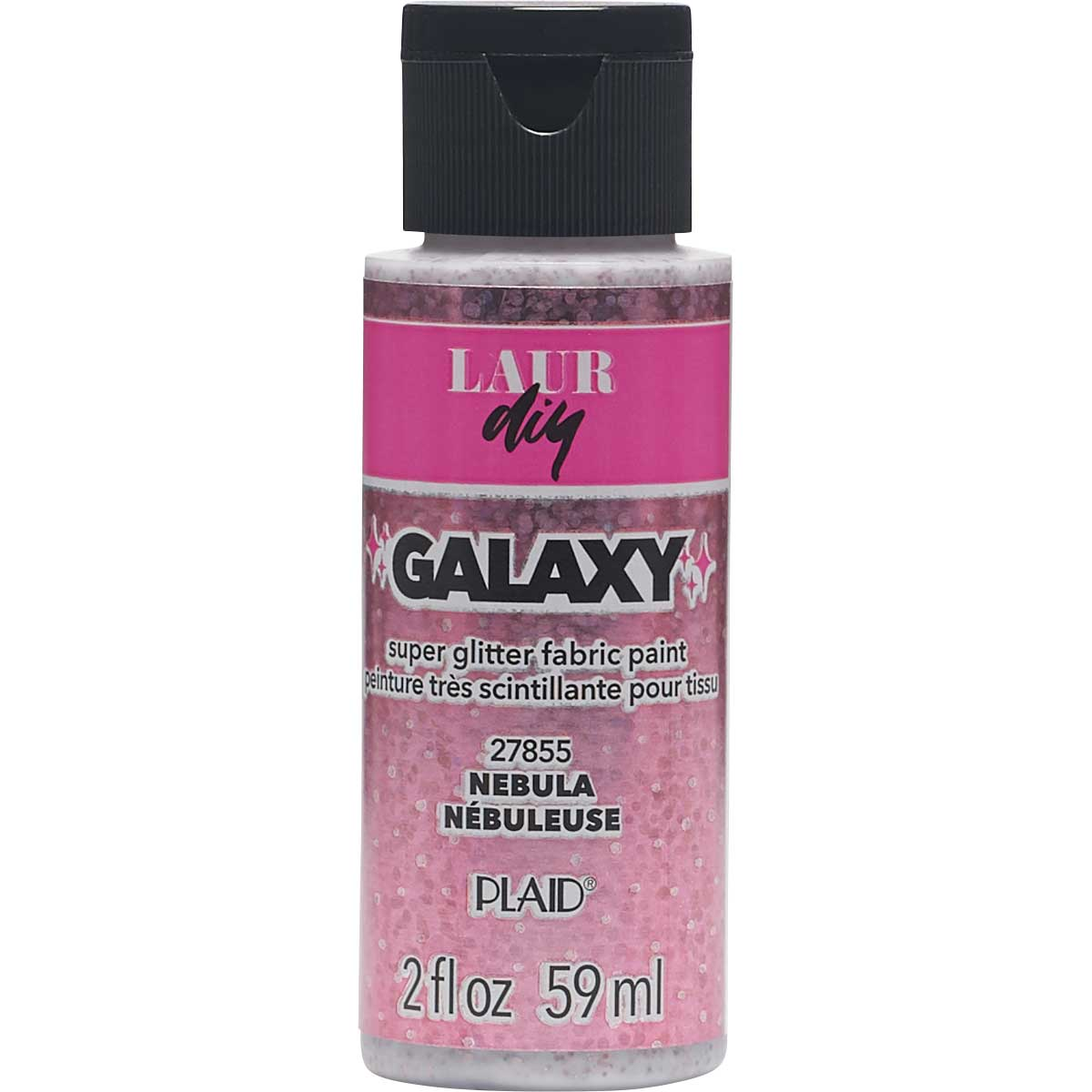 LaurDIY ® Galaxy Glitter Fabric Paint - Nebula, 2 oz.