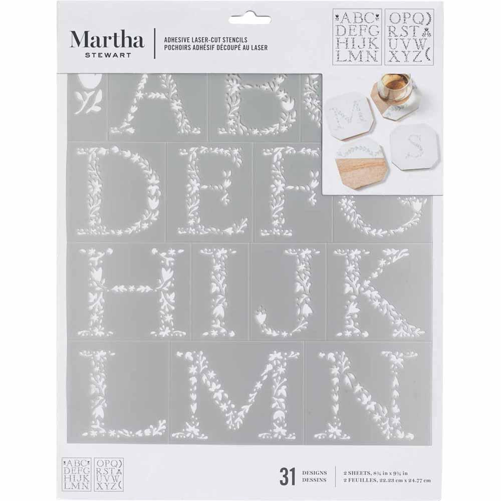 Martha Stewart ® Adhesive Stencil - Floral Monogram