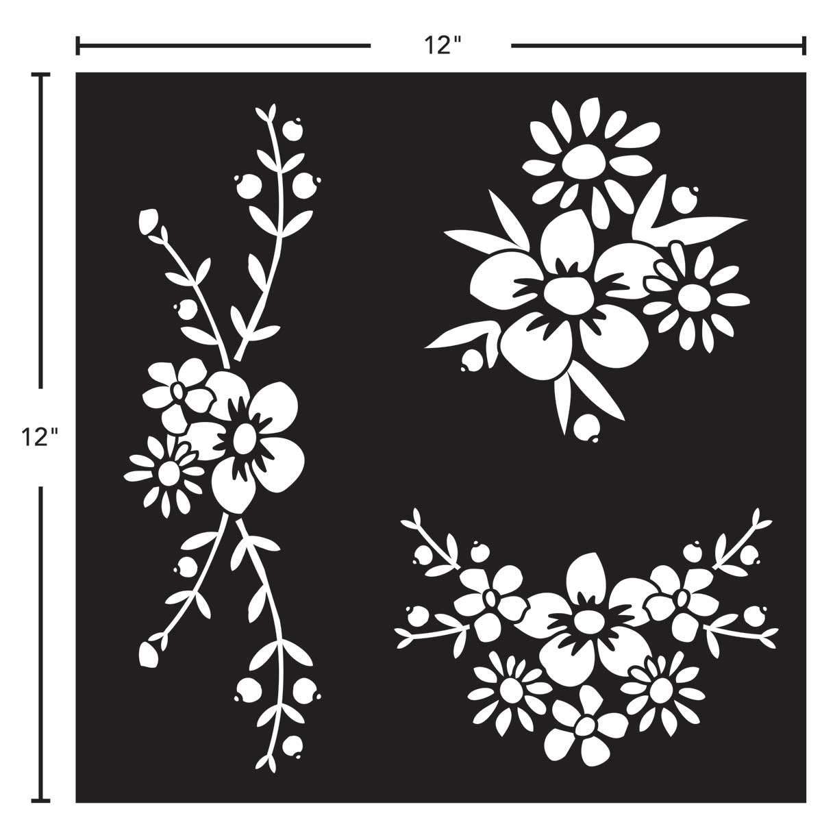 FolkArt ® Painting Stencils - Adhesive Laser - Floral Spray