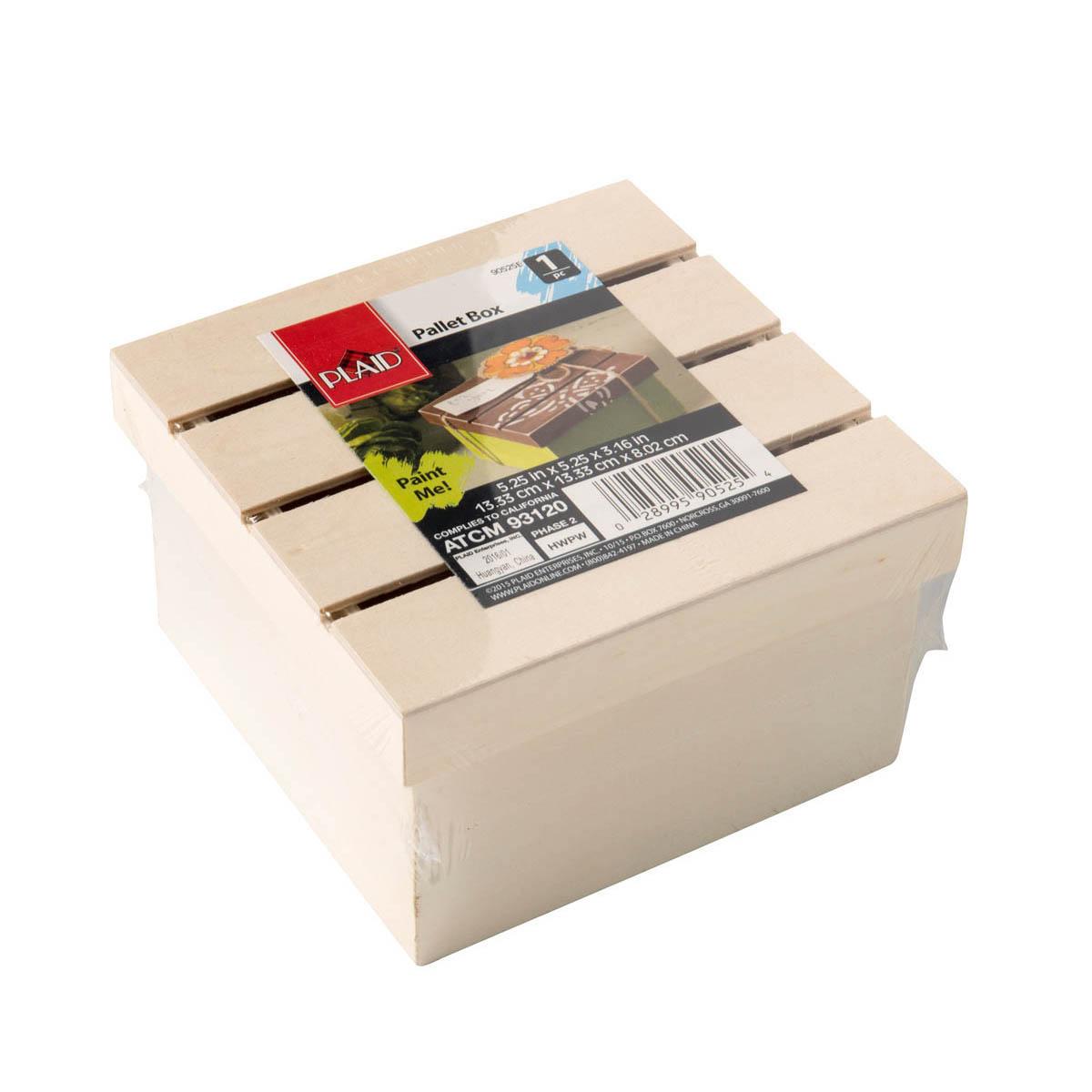 Plaid ® Wood Surfaces - Pallet Box