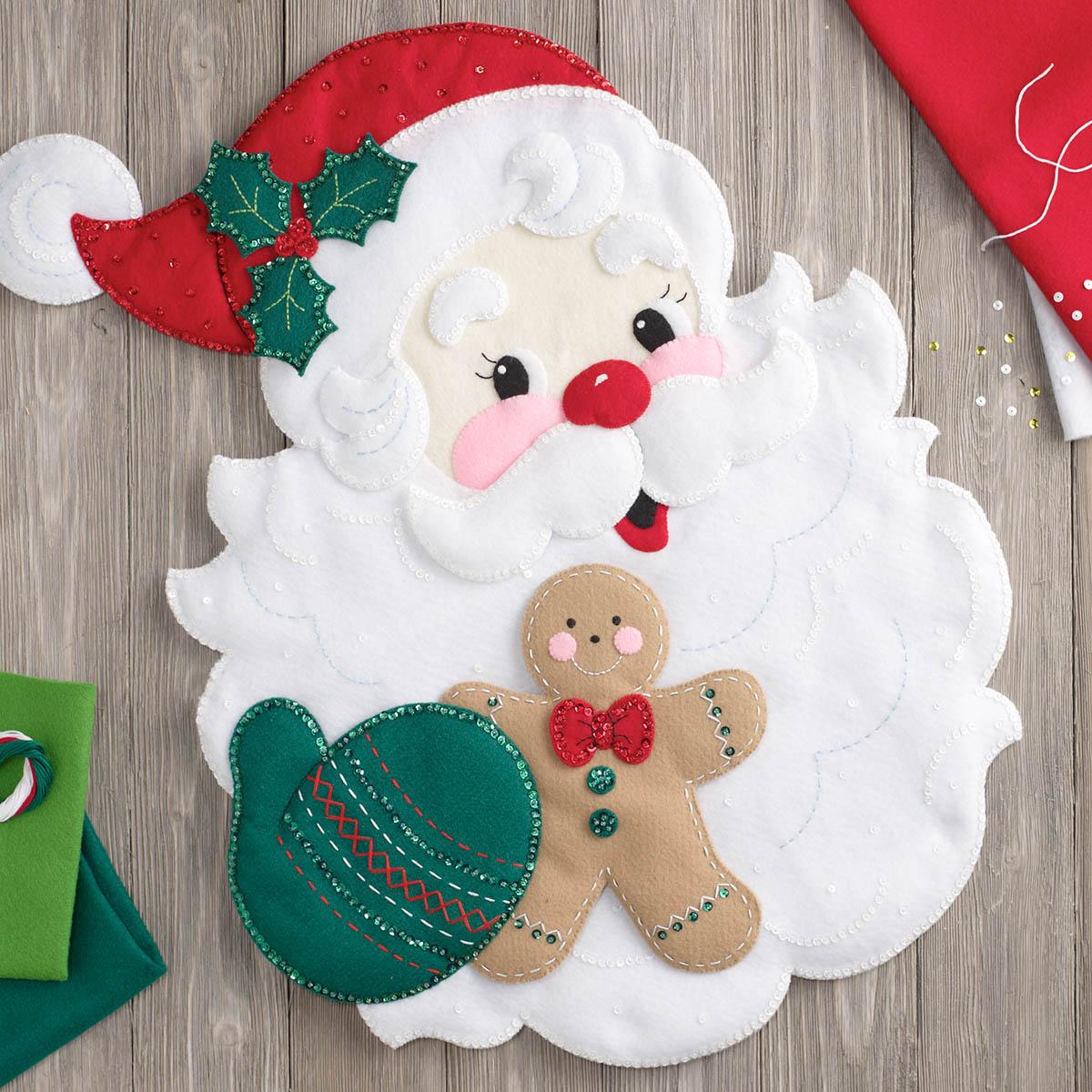 Bucilla ® Seasonal - Felt - Home Decor - Door/Wall Hanging Kits - Santa's Treats