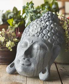 Buddha Room Decor with Concrete Finish