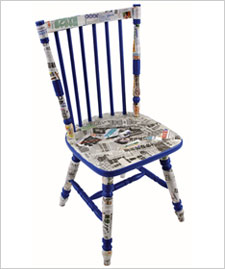 Decoupaged Chair
