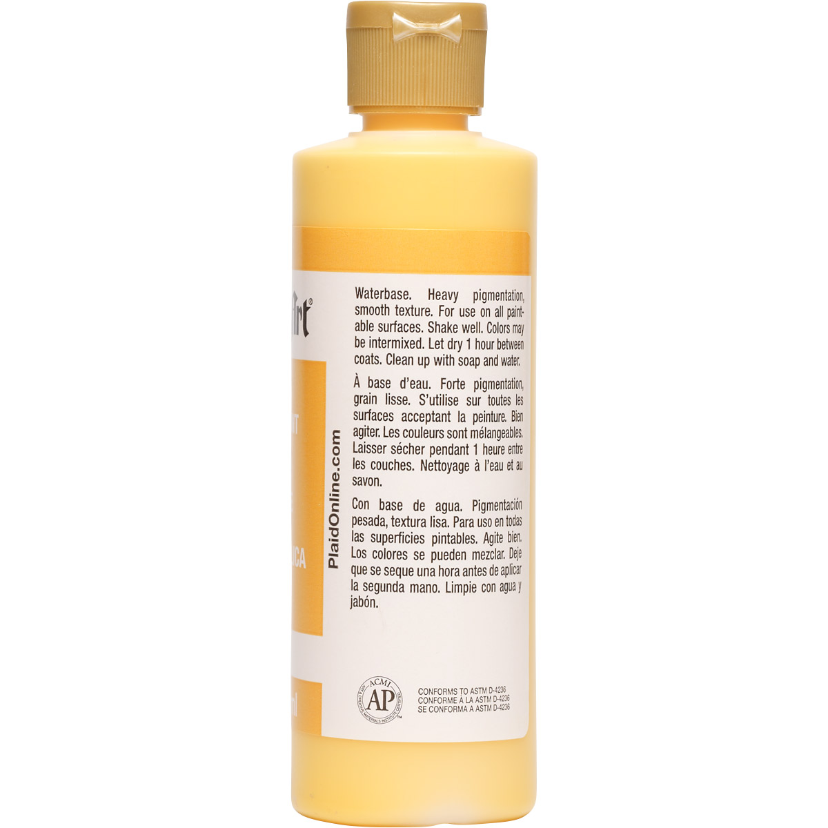 FolkArt ® Acrylic Colors - School Bus Yellow, 8 oz. - 827