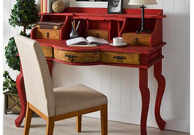 Upcycled Red Writing Desk