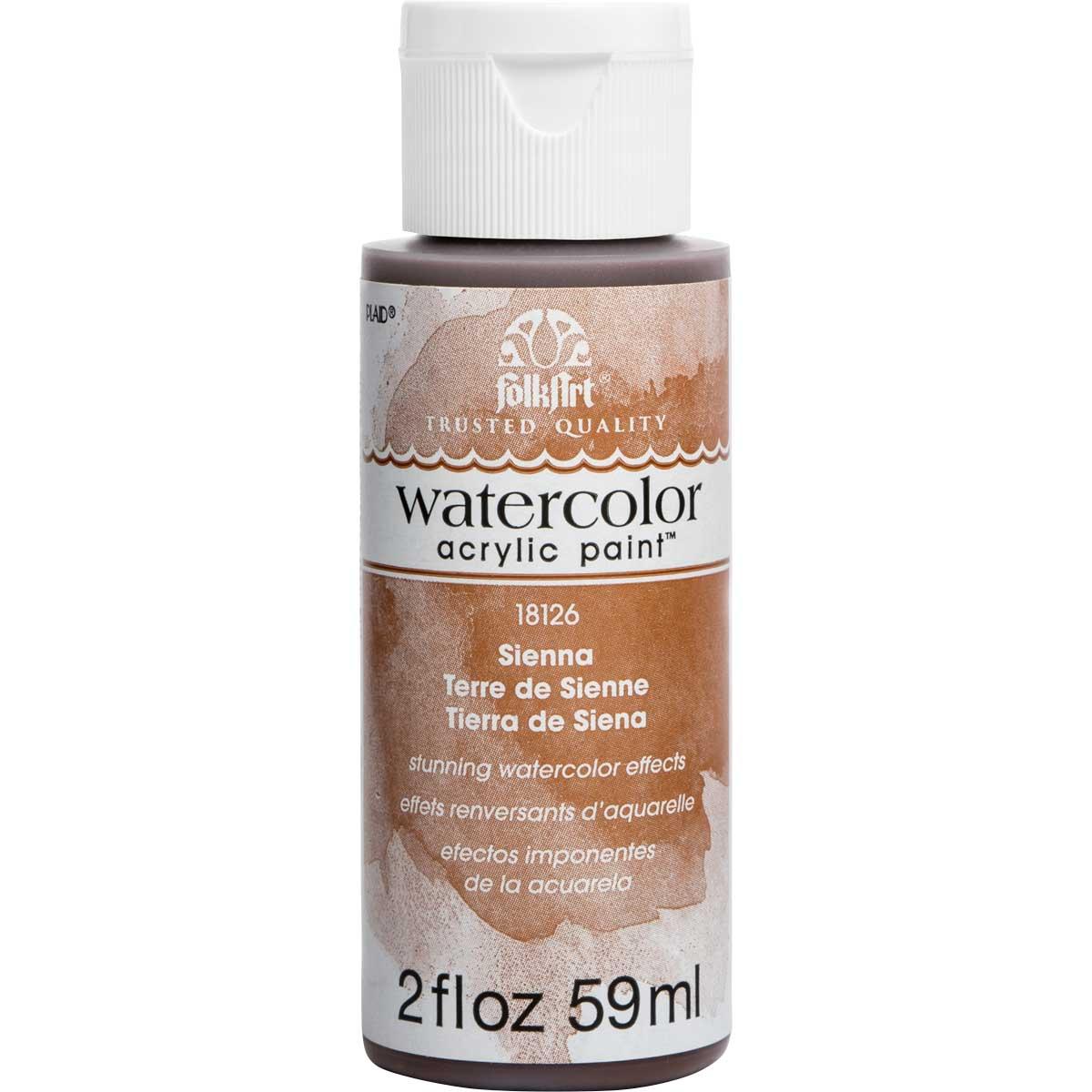 FolkArt ® Watercolor Acrylic Paint™ - Sienna, 2 oz. - 18126