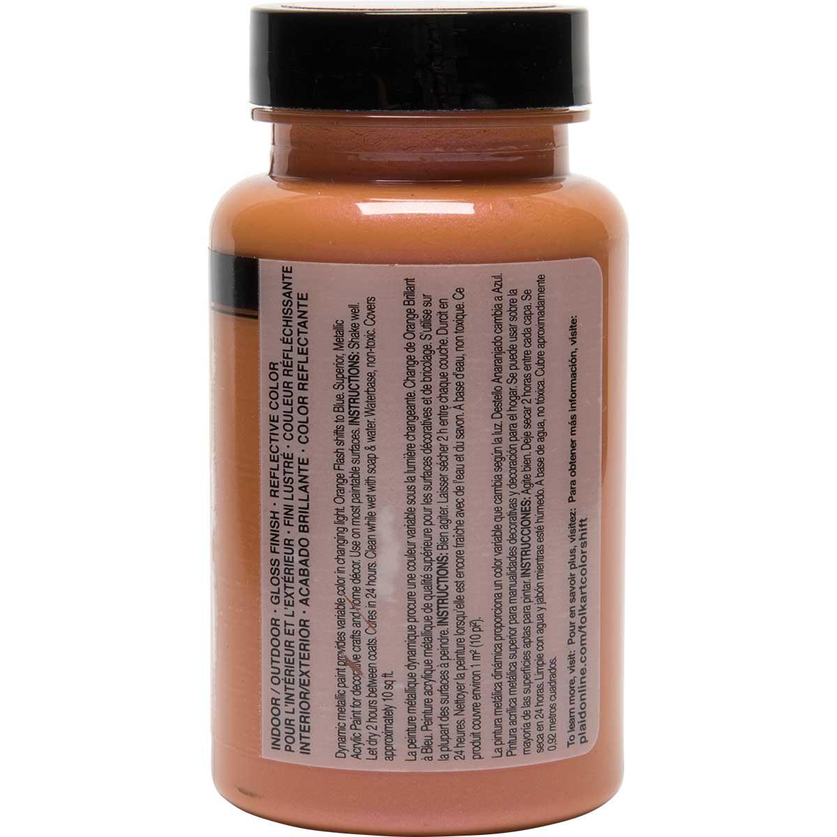 FolkArt ® Color Shift™ Acrylic Paint - Orange Flash, 4 oz.