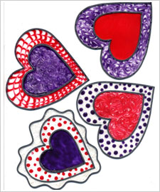 Dancing Hearts Valentine Mobile
