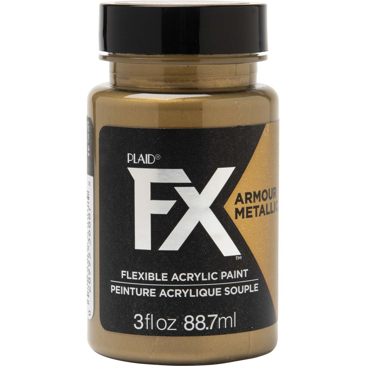 PlaidFX Armour Metal Flexible Acrylic Paint - Gold Coin, 3 oz. - 36887