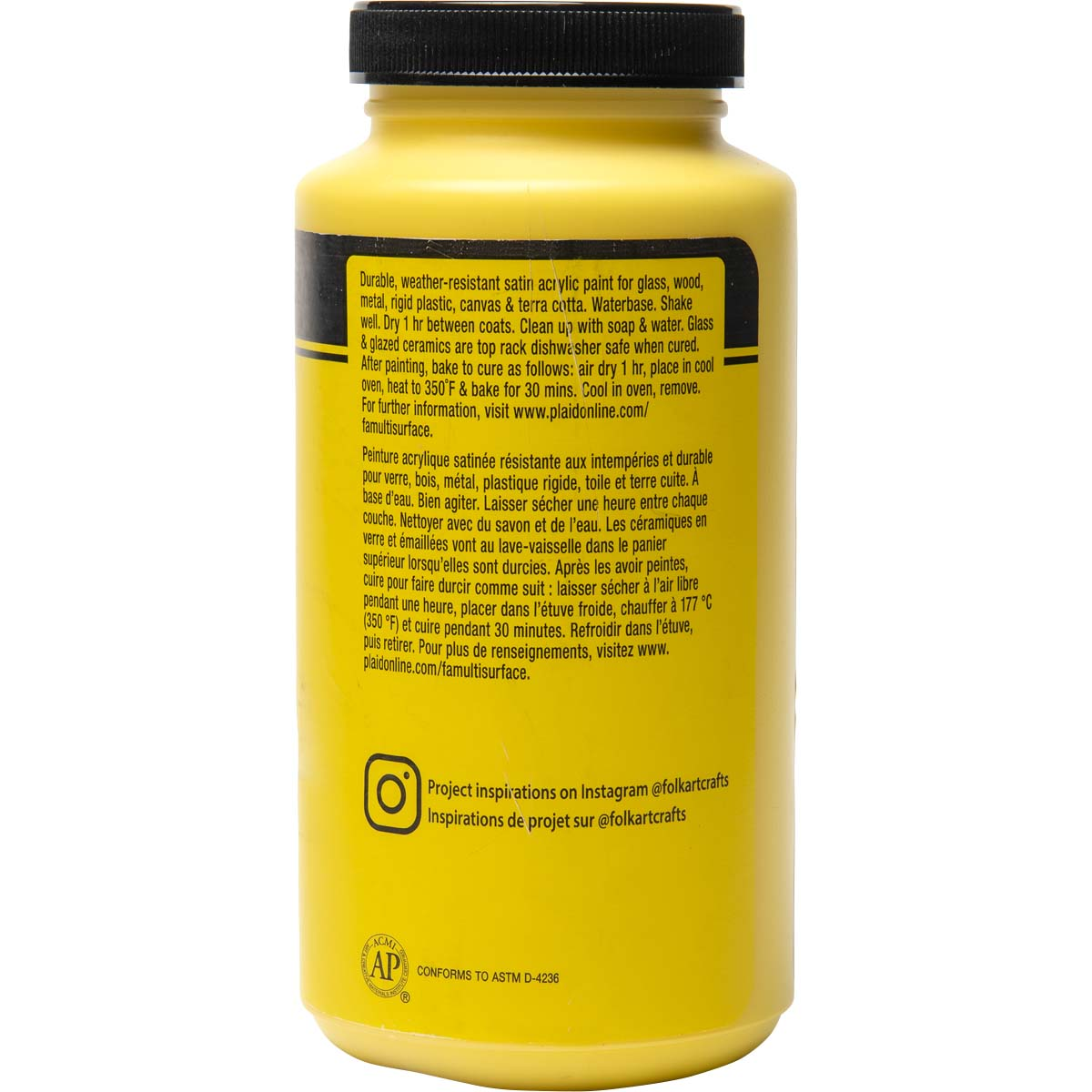 FolkArt ® Multi-Surface Satin Acrylic Paints - Daffodil Yellow, 16 oz.