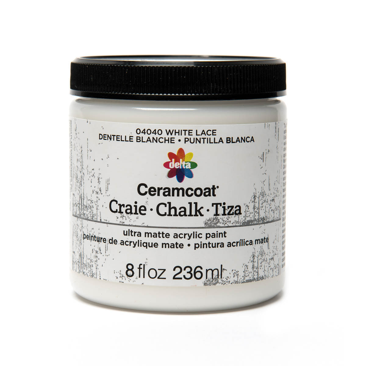 Delta Ceramcoat ® Chalk - White Lace, 8 oz. - 04040