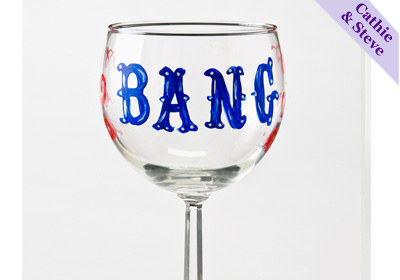 'Bang' Wine Glass